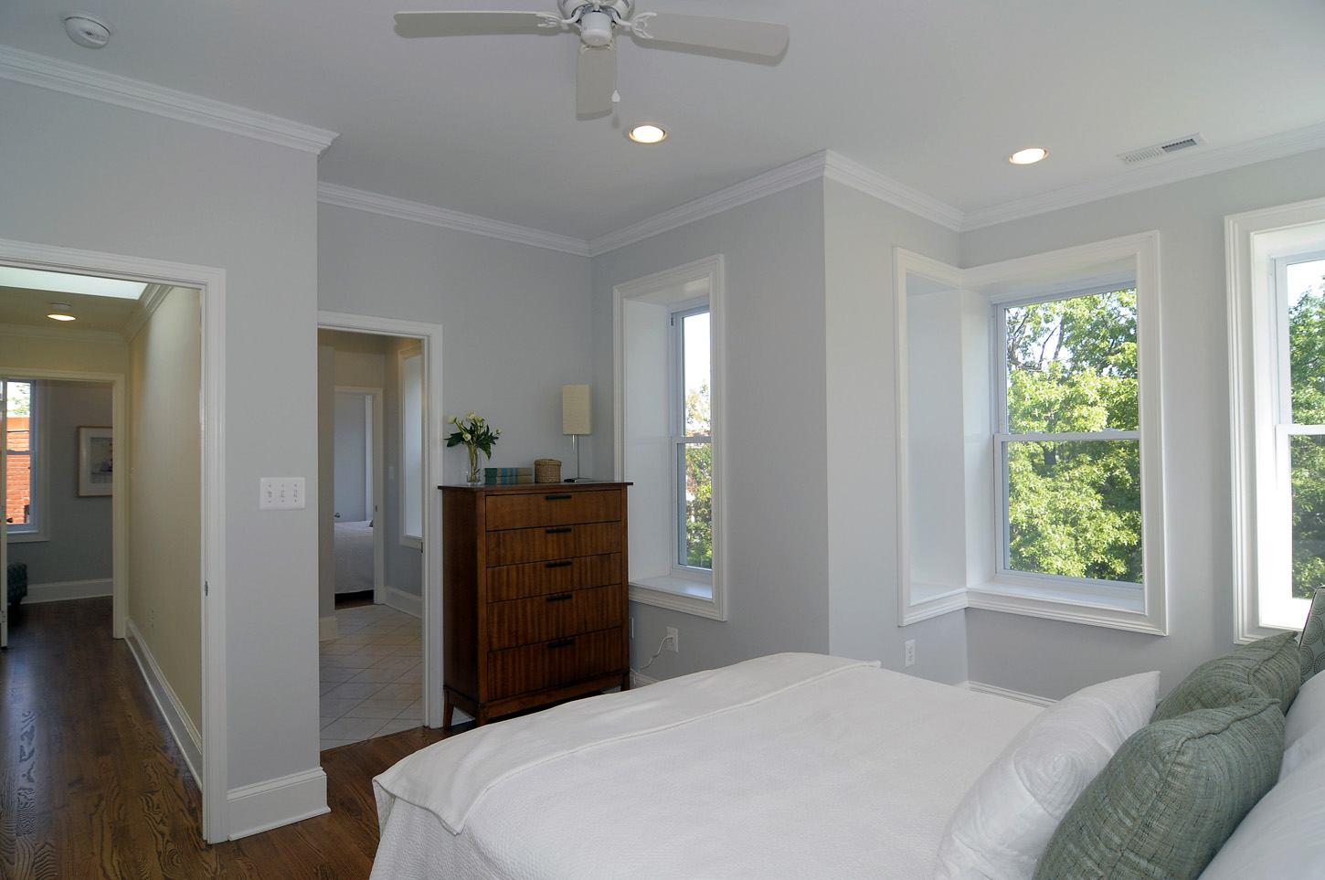 Benjamin moore gray the great search life on hill st - Light grey paint color for bedroom ...